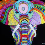 Colourful Elephant Jo Morris Paintings