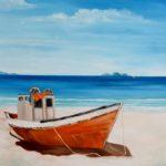 Jo Morris Paintings Beach Boat
