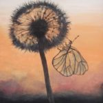 Jo Morris Paintings Butterfly Sunset