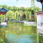 Jo Morris Paintings Chinese garden 3