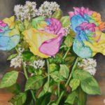 Jo Morris Paintings Colourful Roses