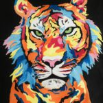Jo Morris Paintings Colourful Tiger