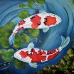 Jo Morris Paintings Koi Fish