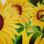 Jo Morris Paintings Sunflowers