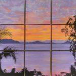 Jo Morris Paintings purple sunset
