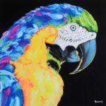 Jo Morris paintings Colourful bird