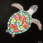 Jo Morris Paintings Colourful Turtle