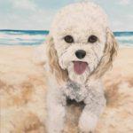 Jo Morris Painting Beach Dog