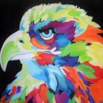Jo morris paintings colourful Eagle