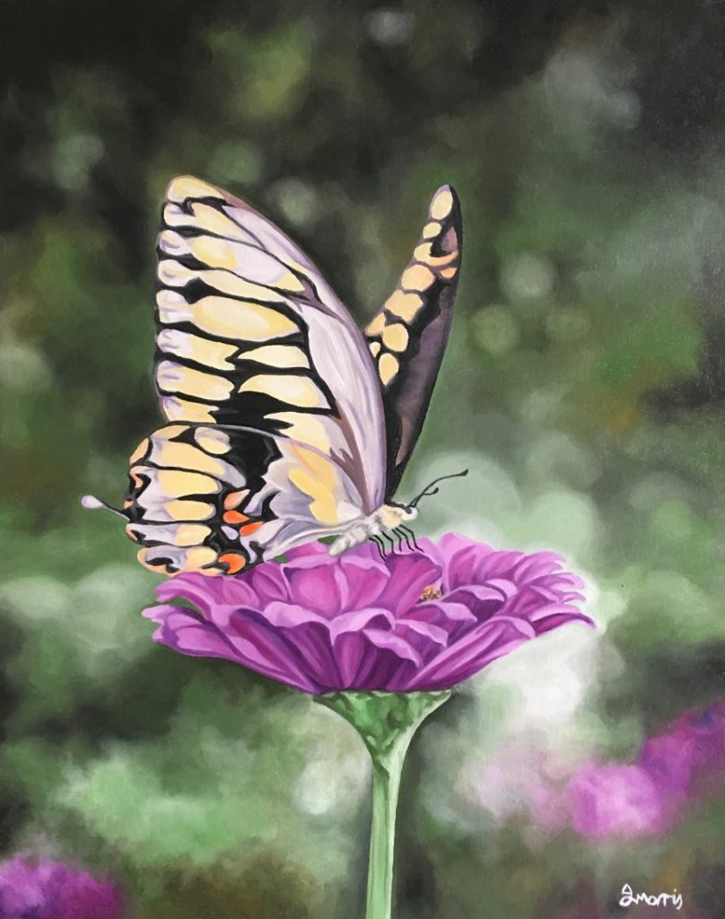 Jo morris paintings Butterfly Glamour