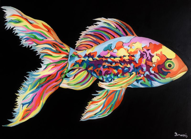 Jo morris paintings Colourful gold fish